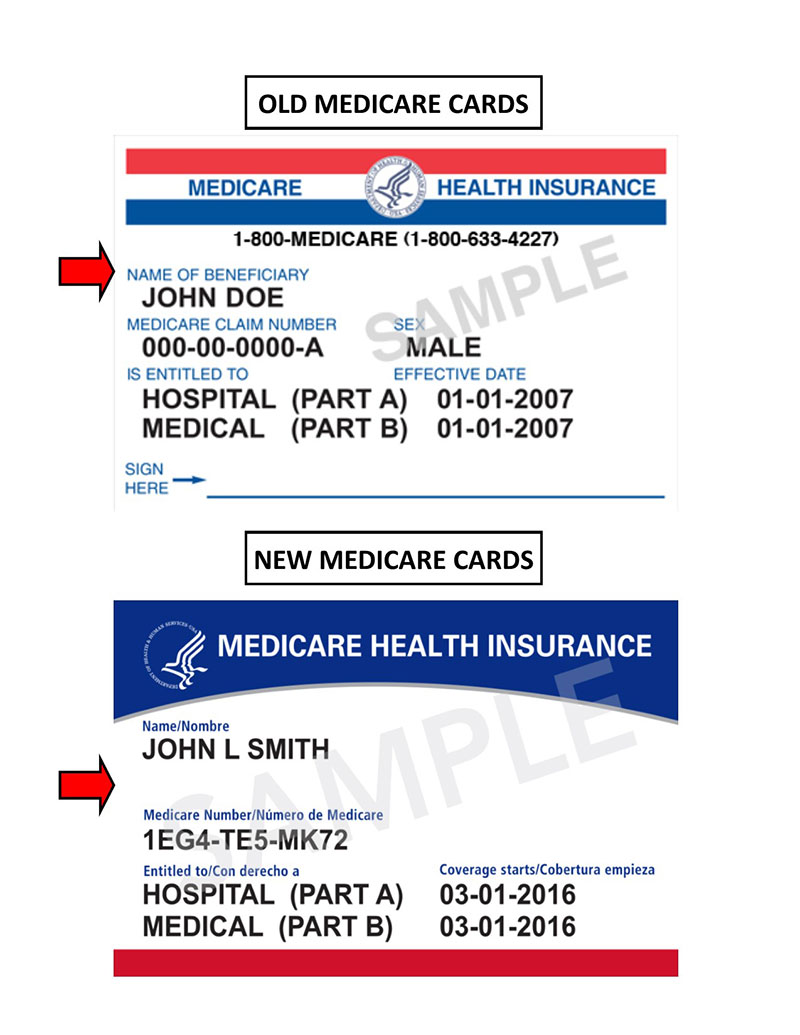 old and new medicare cards