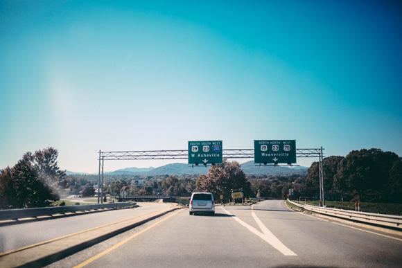 car-on-highway-outside-Asheville