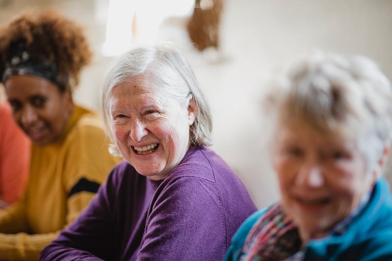Group of senior women smiling